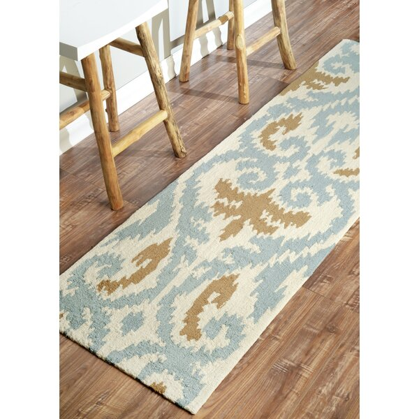 Mercury Row Rutherford Beige/Blue Rug U0026 Reviews | Wayfair