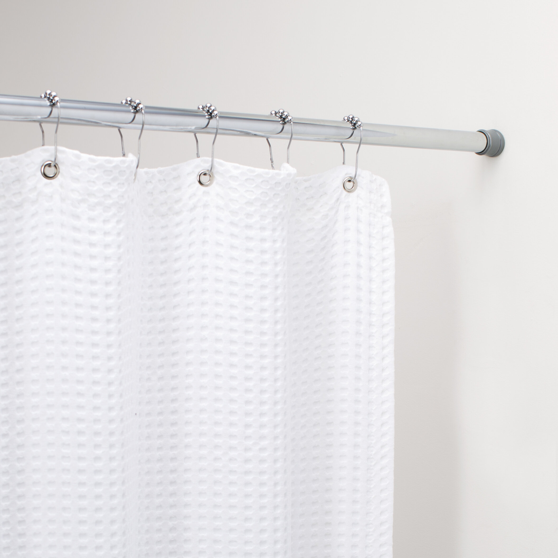 Wayfair BasicsTM Basics 76 Adjustable Straight Tension Shower Curtain Rod Reviews