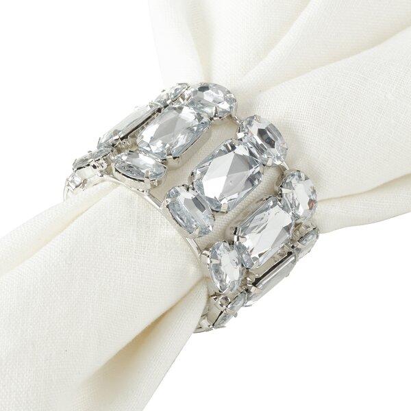 Jeweled Gem Glam Bling Napkin Ring (Set of 4) by Rosdorf Park