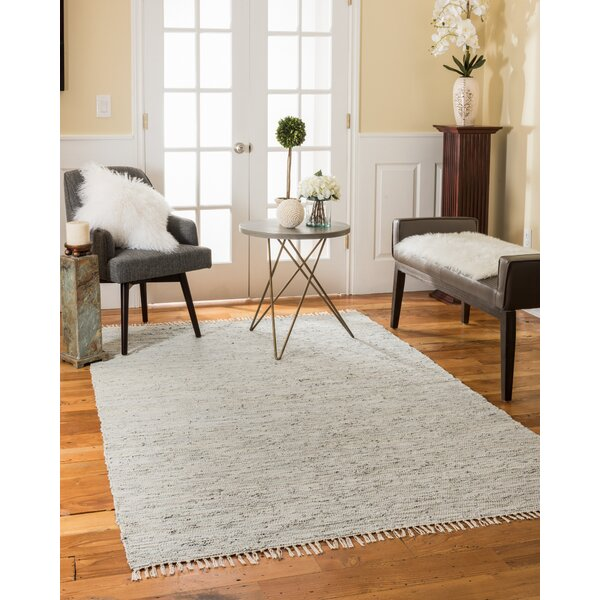 Limassol Leather Hand-Woven Gray Area Rug by Natural Area Rugs