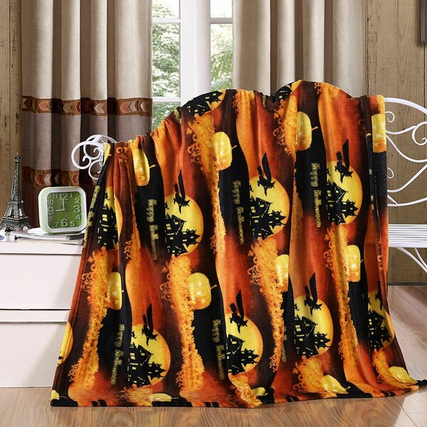 Adcock Halloween Fleece Throw by The Holiday Aisle