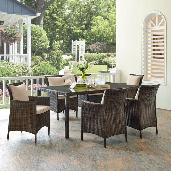 Solomon 7 Piece Dining Set Bayou Breeze W002681453