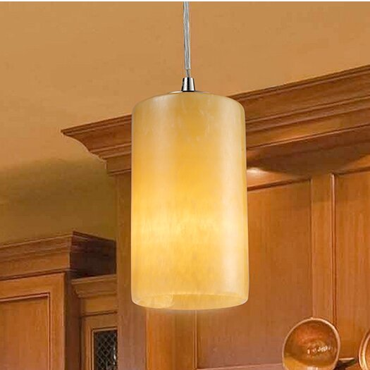 Millbrook 1-Light Cylinder Pendant by Bay Isle Home
