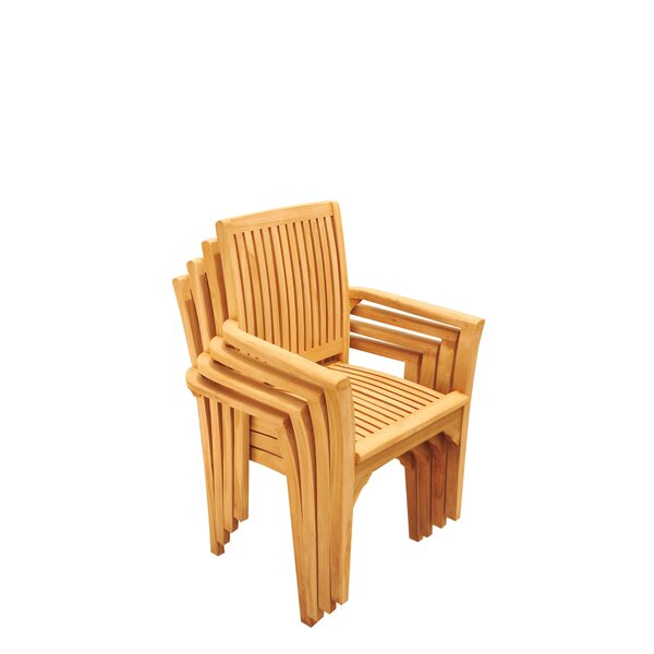Lua Stacking Teak Patio Dining Chair (Set of 4) by Teak Smith
