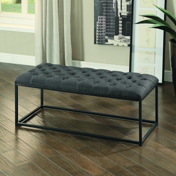 Laura Upholstered Bench by Gracie Oaks