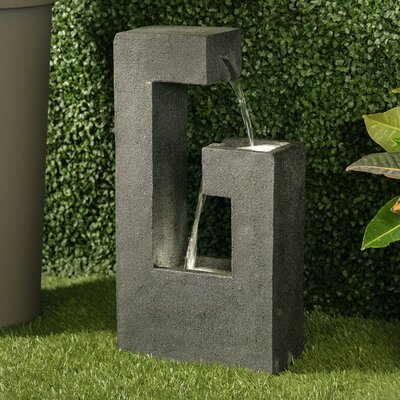 Image of Resin Power Fountain with Light Alfresco Home