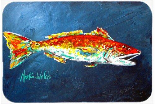 Fish for Jarett Rectangle Non-Slip Bath Rug