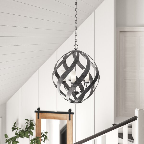 Victorino 5 - Light Candle Style Globe Chandelier By Gracie Oaks