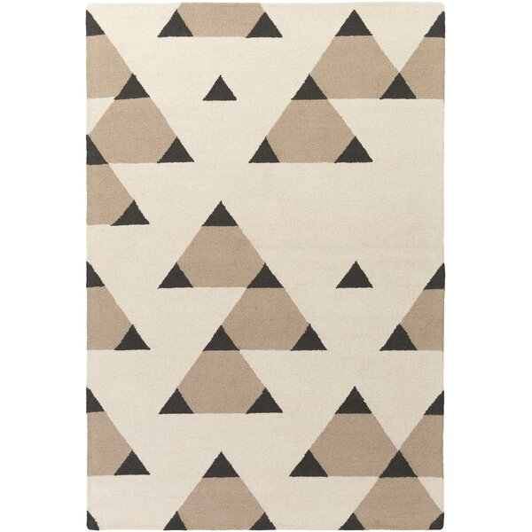 Youngquist Hand-Crafted Ivory/Taupe Area Rug by George Oliver