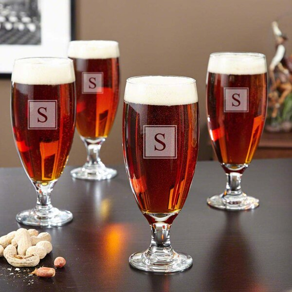 Montford Personalized 16 oz. Pilsner Glass (Set of 4) by Home Wet Bar