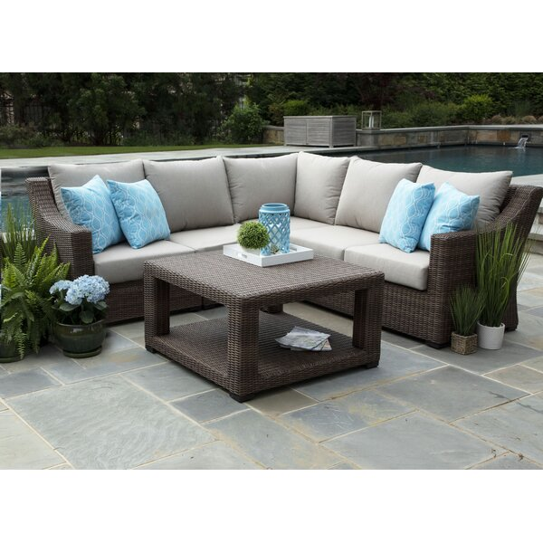Senecaville 4 Piece Sectional Seating Group with Sunbrella Cushions by Brayden Studio