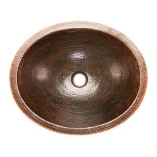 Shop For Skirted Metal Oval Vessel Bathroom Sink ByPremier Copper Products