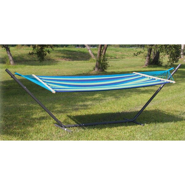 Powell Point Cotton Hammock with Stand by Bungalow Rose Bungalow Rose