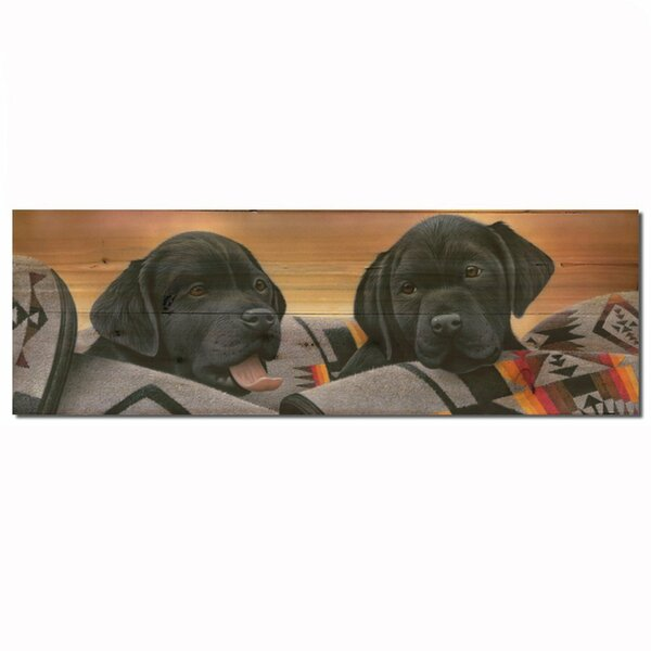 Pups Black by Jerry Gadamous Graphic Plaque by WGI-GALLERY