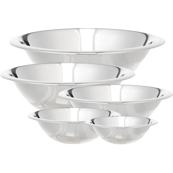 5 Piece Stainless Steel Mixing Bowl Set by Cook Pro