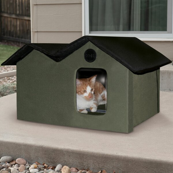 Unheated Outdoor Extra Wide Cat House By K H Manufacturing.