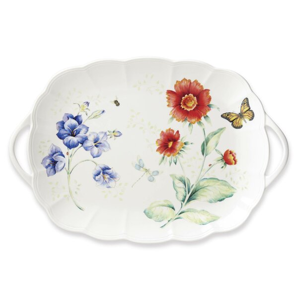 Butterfly Meadow Handled Platter by Lenox