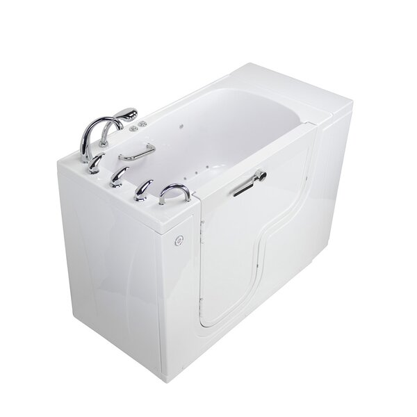Transfer L Shape Wheelchair Accessible Microbubble 52 x 30 Walk-in Combination Bathtub by Ella Walk In Baths