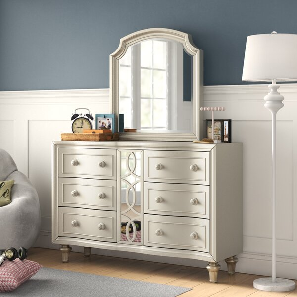 Skeffingt Arched Dresser with Mirror by Grovelane Teen