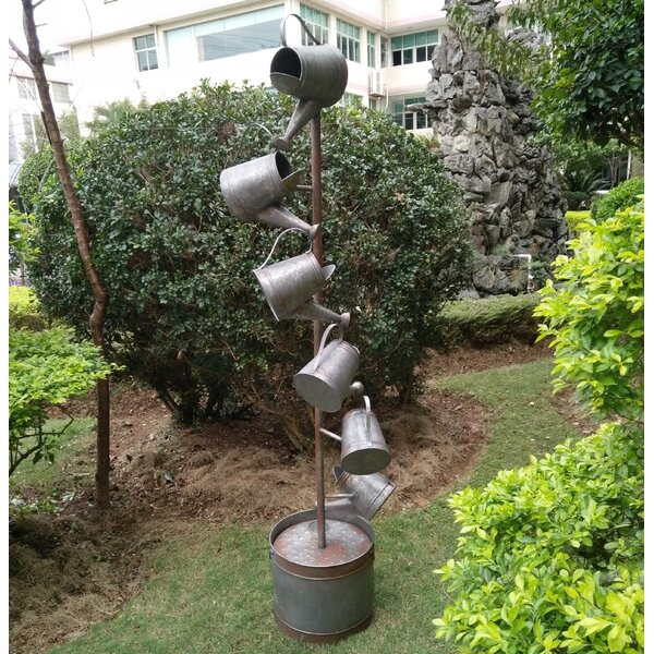 Metal Watering Cans Fountain by Hi-Line Gift Ltd.