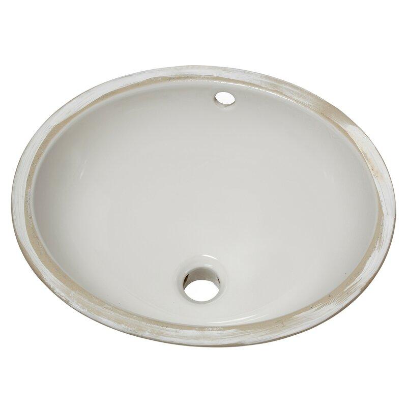 American Standard Ovalyn Ceramic Oval Undermount Bathroom Sink With Overflow Reviews Wayfair