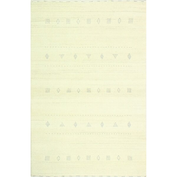 One-of-a-Kind Speegle Hand Woven Wool Ivory Area Rug by Isabelline