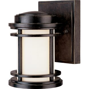 Compare prices Teminot 1-Light Outdoor Wall Lantern By Bloomsbury Market