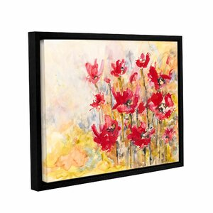 Poppy Field by Karin Johannesson Framed Painting Print on Wrapped Canvas by ArtWall