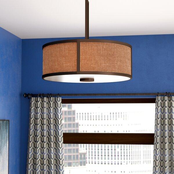 Foerer 3-Light Unique / Statement Drum Chandelier by Ebern Designs Ebern Designs