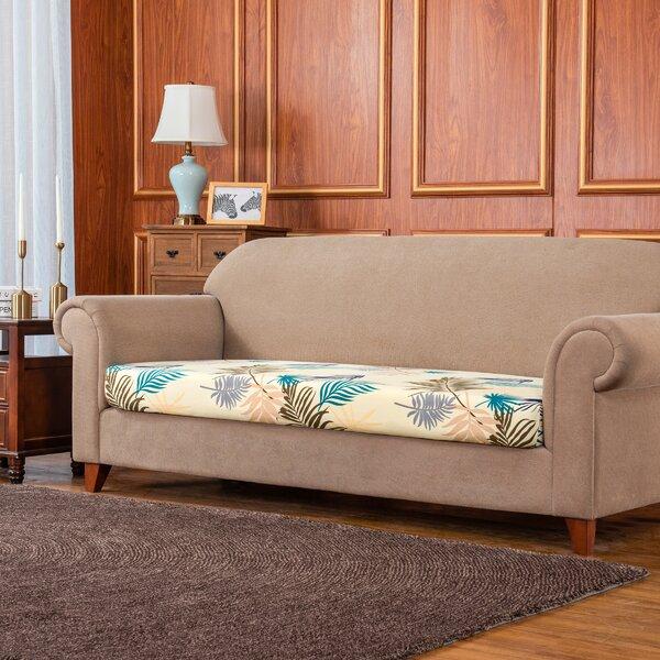 Rocco Leaves Printed Elastic Box Cushion Loveseat Slipcover By Bayou Breeze