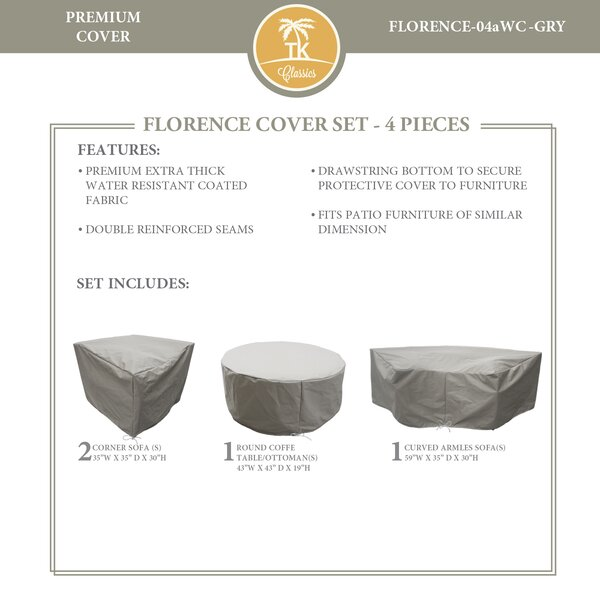 Forence 4 Piece Water Resistant Patio Furniture Cover Set by TK Classics