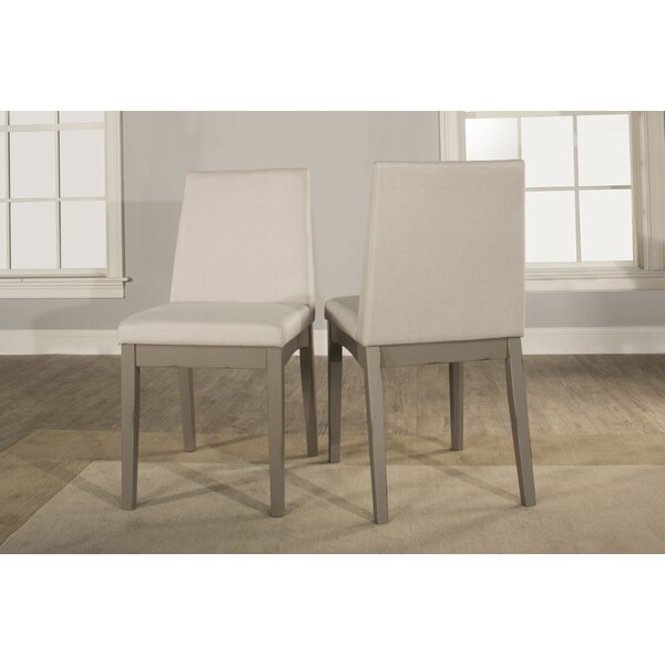 Kinsey Upholstered Dining Chair (Set of 2) by Rosecliff Heights