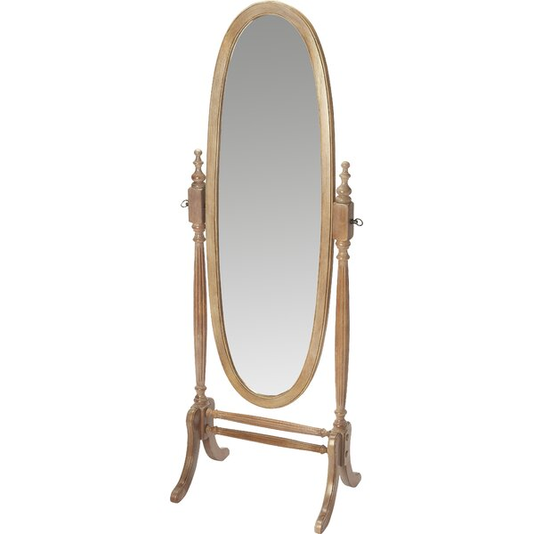 Oval Driftwood Gray Cheval Mirror by Astoria Grand