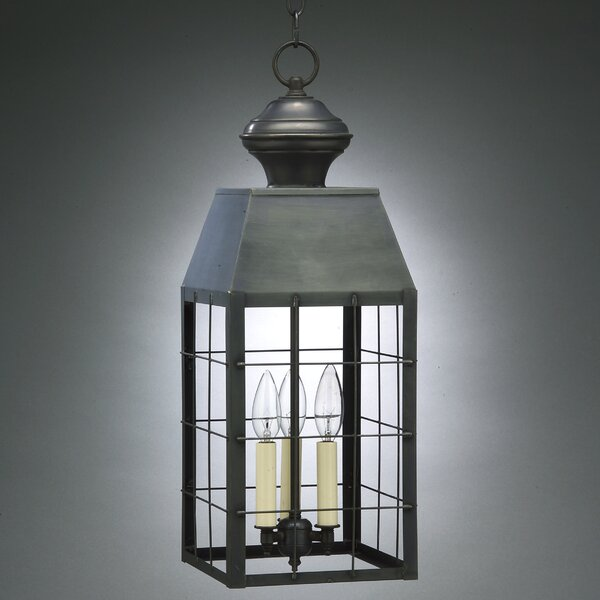 Woodcliffe 3-Light Outdoor Hanging Lantern by Northeast Lantern