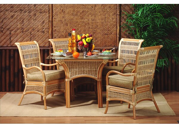 5 Piece Dining Set by Spice Islands Wicker