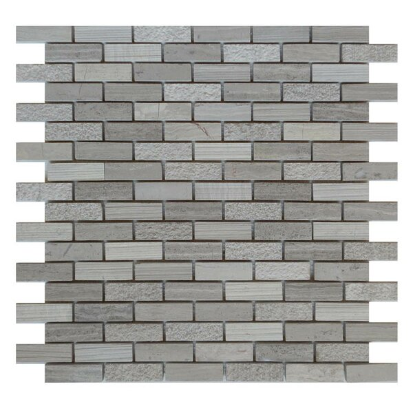 0.63 x 2 Natural Stone Mosaic Tile in Gray by QDI Surfaces