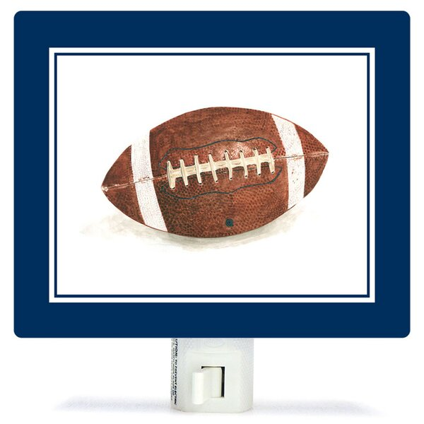 Non-Personalized Sports and Games Football Canvas Night Light by Oopsy Daisy