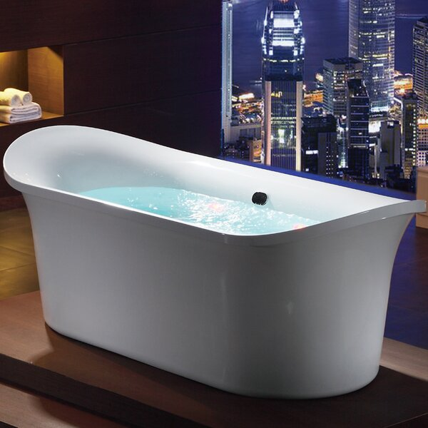 Free Standing Air Bubble 74.75 x 33.5 Bathtub by EAGO