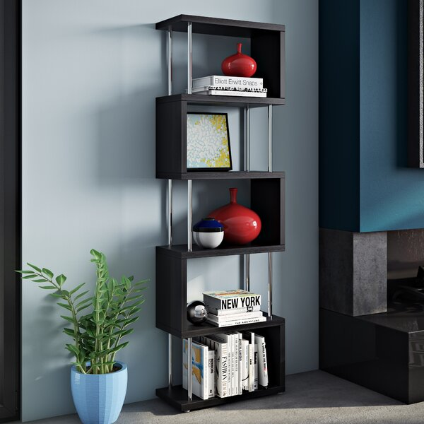 Adrianna Shelf Snake Geometric Bookcase by Wade Logan