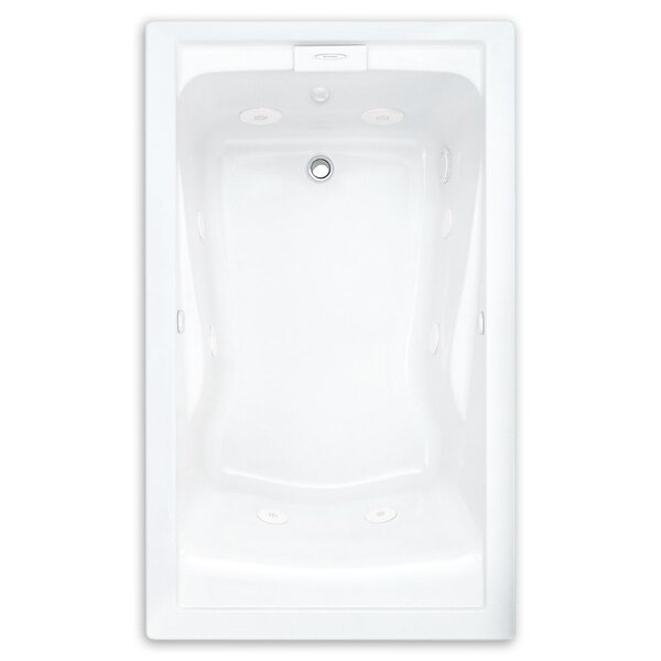 Evolution 62.56 x 38.56 Everclean Bathtub by American Standard