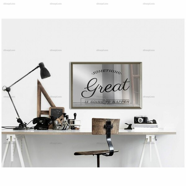 Something Great Rectangle Wall Mirror by Latitude Run