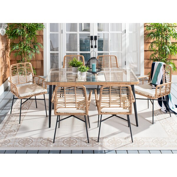 Joan 7 Piece Dining Set by Bungalow Rose