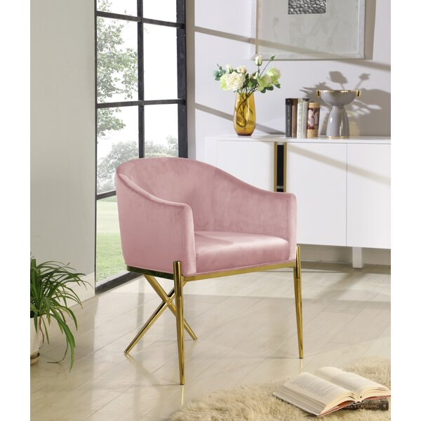 Cesar Velvet Upholstered Arm Chair By Everly Quinn