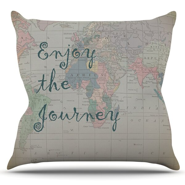 Journey by Catherine Holcombe Outdoor Throw Pillow by East Urban Home