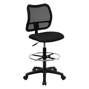 Review Mid-Back Mesh Drafting Desk Chair by Offex