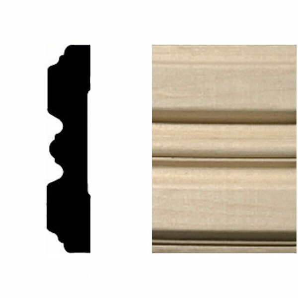 3/4 in. x 3-1/4 in. x 7 ft. Hardwood Fluted Casing/Chair Rail Moulding by Manor House