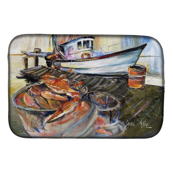 Crab Trap Dish Drying Mat by Caroline's Treasures