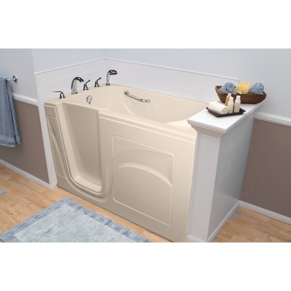 Navigator 54 x 30 Whirlpool and Air Jetted Walk-In Bathtub by A+ Walk-In Tubs