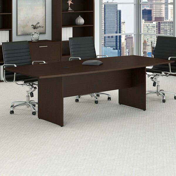 Boat shaped 30H x 42W x 95L Conference Table by Bush Business Furniture