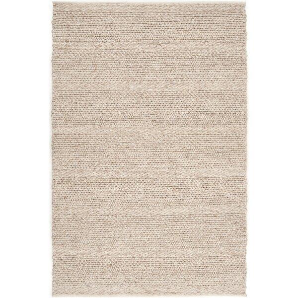 Jocelyn Handwoven Wool Beige Area Rug by Birch Lane™